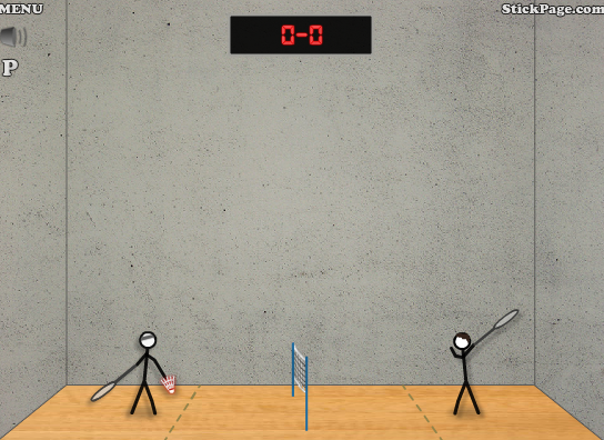 637363773 - Stick Figure Badminton